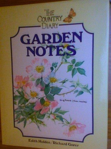 9781854711434: The Country Diary Garden Notes