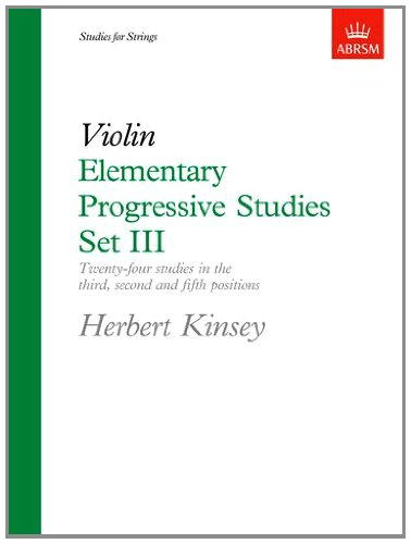9781854720795: Elementary Progressive Studies, Set III for Violin: Set 3 (Elementary Progressive Studies (ABRSM))