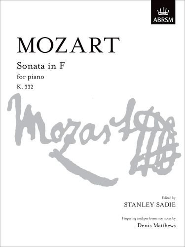 9781854721235: Sonata in F K. 332 (Signature Series (ABRSM))