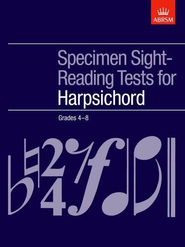 9781854724113: Specimen Sight-Reading Tests for Harpsichord, Grades 4-8 (ABRSM Sight-reading)
