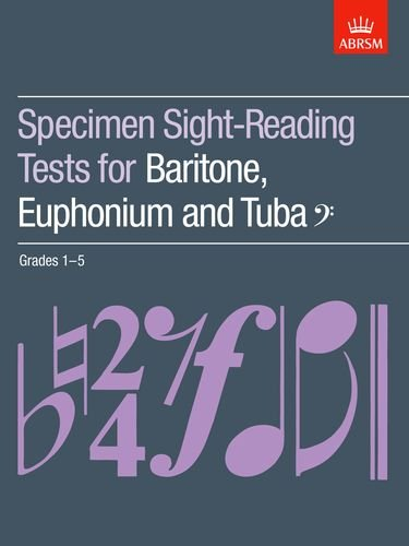 9781854728579: Specimen Sight-Reading Tests for Baritone, Euphonium and Tuba (Bass clef), Grades 1-5 (ABRSM Sight-reading)