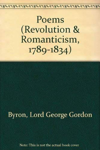 9781854770394: Poems (Revolution and Romanticism, 1789-1834)