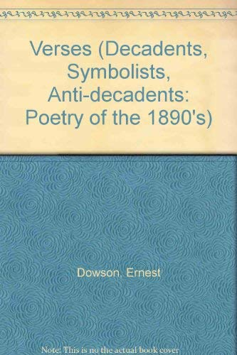 9781854771421: Verses: Decorations (Decadents, Symbolists, Anti-Decadents)