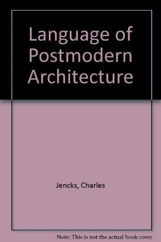 9781854900609: Language of Post Modern Architecture
