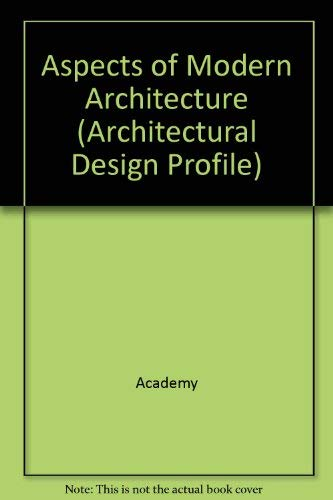 9781854901026: Aspects of Modern Architecture