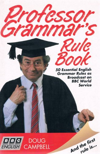 9781854972415: Professor Grammar's Rule Book