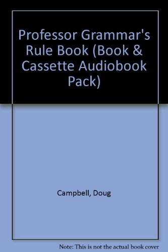 9781854972439: Professor Grammar's Rule Book