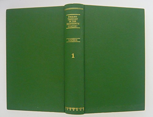 9781855060876: History of English Thought in the Eighteenth Century (Philosophical works of Leslie Stephen)