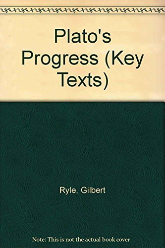 9781855063211: Plato's Progress: 1966 (Key Texts Ser. : Classic Studies in the History of Ideas))