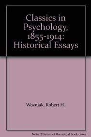 9781855067028: Classics in Psychology, 1855-1914: Historical Essays