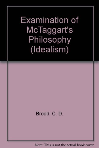 9781855068520: Examination of McTaggart's Philosophy (Thoemmes Press - Bristol Introductions)