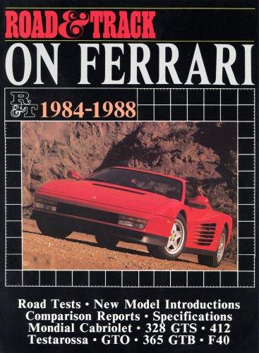 9781855200876: Road and Track on Ferrari: Ferrari, 1984-88 (Brooklands Books)