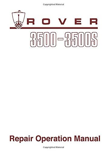 Rover 3500 & 3500s (P6) Workshop Manual (Official factory manuals): Brooklands Books Ltd