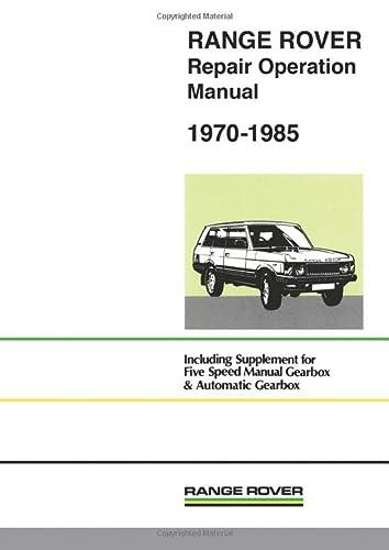 Range Rover Wsm 1970-85 (Paperback): Brooklands Books Ltd