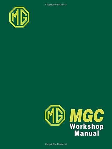 9781855201828: MG MGC Workshop Manual: Offical Workshop Manual