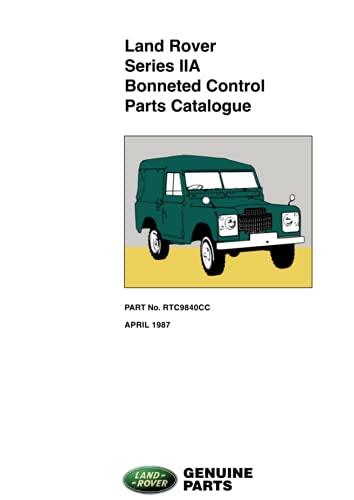 9781855202757: Land Rover Series 2A Bonneted Control Parts Catalogue - Rtc9840Cc April 1987 (Official Parts Catalogue)
