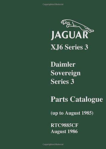 Jaguar XJ6 Ser 3 Daimler Parts Catalog: Brooklands Books Ltd