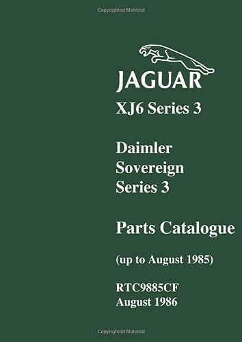 Jaguar XJ6 Ser 3 Daimler Parts Catalog (1855202778) by Brooklands Books Ltd