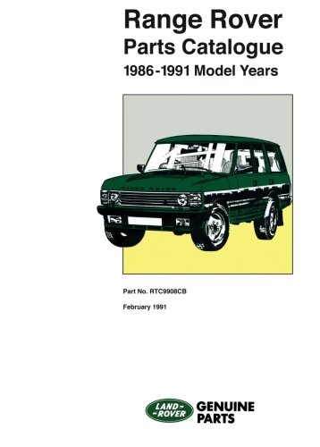 Range Rover Parts Catalog (RTC 9908CB) (Official Parts Catalogue): Brooklands Books Ltd