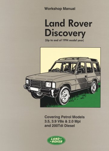 Land Rover Discovery WSM (Official Workshop Manuals): Brooklands Books Ltd