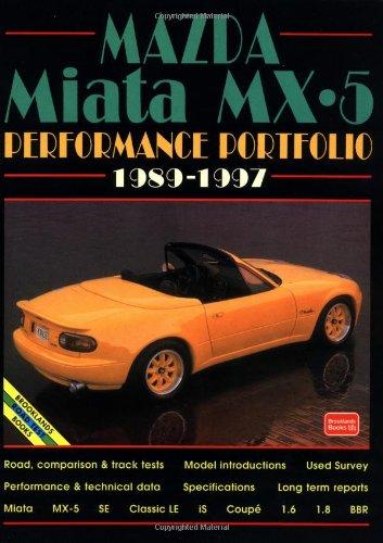 9781855203556: Mazda Miata Mx5 Performance Portfolio, 1989-1996 (Performance portfolios)