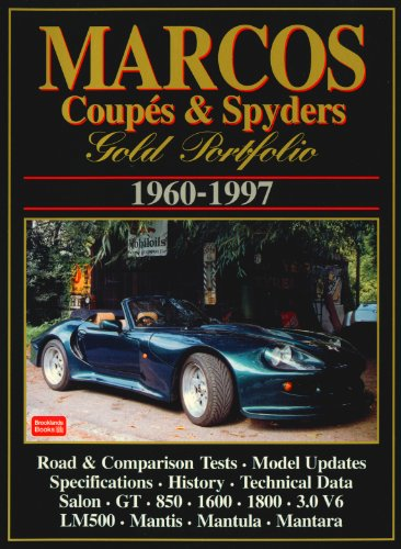 9781855203976: Marcos Coupes & Spyders Gold Portfolio 1960-1997