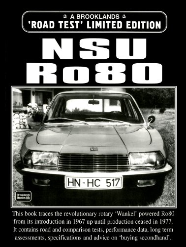 9781855204089: NSU Ro80 Road Test Limited Edition