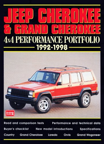 9781855204164: Jeep Cherokee & Grand Cherokee: 4x4 Performance Portfolio, 1992-98