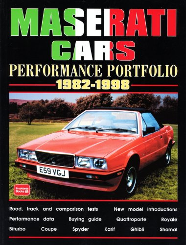 Maserati Cars Performance Portfolio 1982-1998 (Brooklands Books Road Test Series): R.M. Clarke