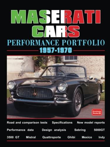 9781855206014: Maserati Cars 1957-1970 -Performance Portfolio