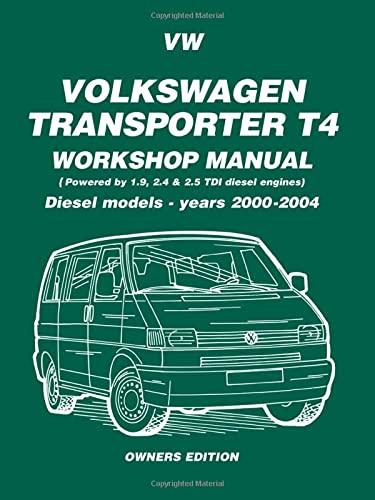 9781855206816: Volkswagen Transporter T4 Workshop Manual Diesel 2000 on: Diesel Models - Years 2000 on (Diesel Models 2000 on)
