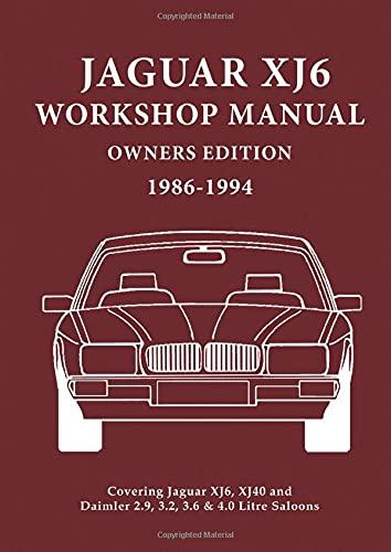 9781855207851: Jaguar XJ6 Workshop Manual Owners Edition 1986-1994