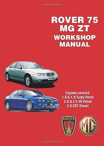 rover 75 mg zt workshop manual workshop manuals paperback rh abebooks co uk mg zt manual mg zt manual