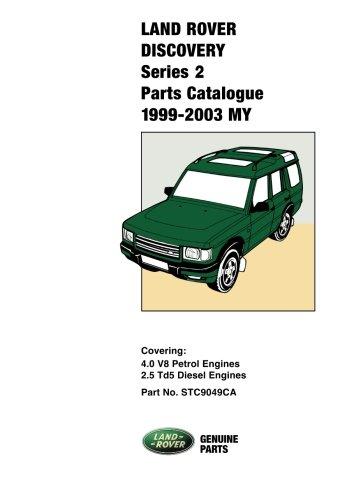 Land Rover Discovery 1 Parts Catalogue