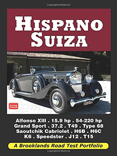 9781855209152: Hispano Suiza Road Test Portfolio (Brooklands Books Road Tests Series)