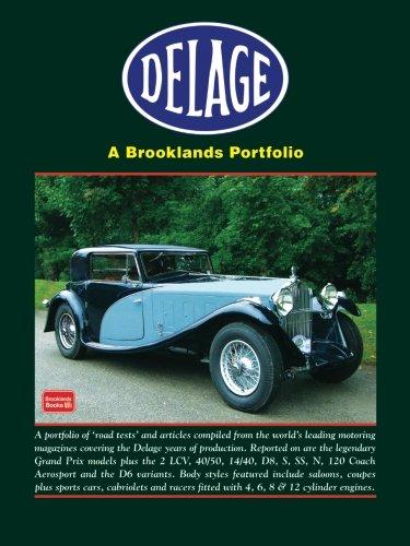 9781855209336: Delage A Brooklands Portfolio