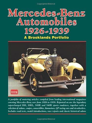 Mercedes-Benz Automobiles 1926-1939 (A Brooklands Portfolio)