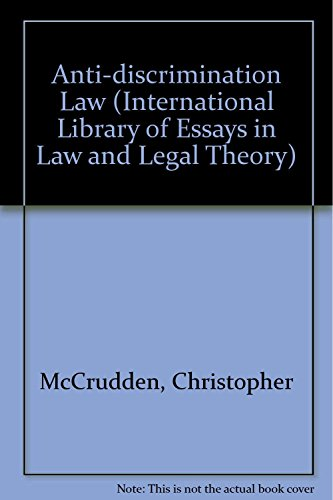 anti discrimination law international library of  9781855211346 anti discrimination law international library of essays in law and legal theory