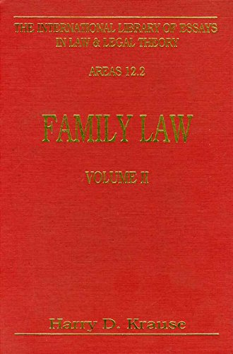9781855211520: Family Law (International Library of Essays in Law and Legal Theory)