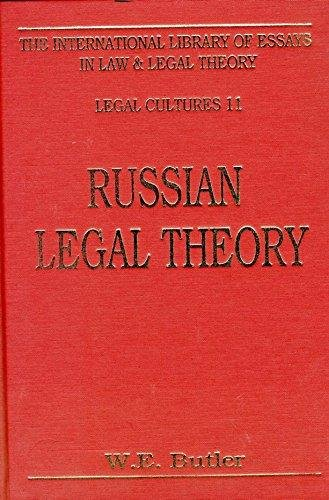 9781855212497: Russian Legal Theory (International Library of Essays in Law and Legal Theory)