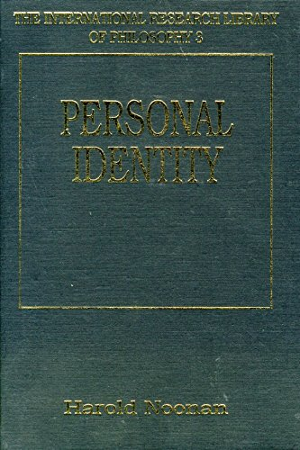 9781855212992: Personal Identity (International Research Library of Philosophy)