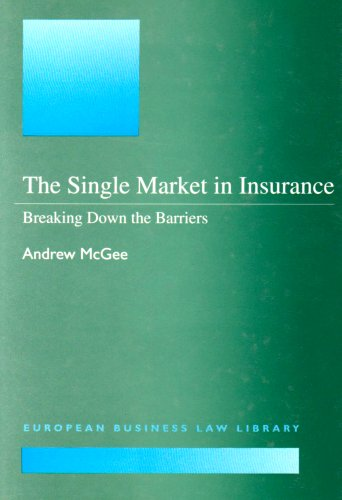 9781855215634: The Single Market in Insurance: Breaking Down the Barriers (European Business Law Library)