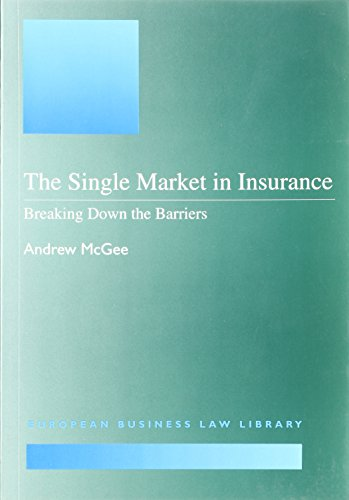 9781855215702: The Single Market in Insurance: Breaking Down the Barriers (European Business Law Library)