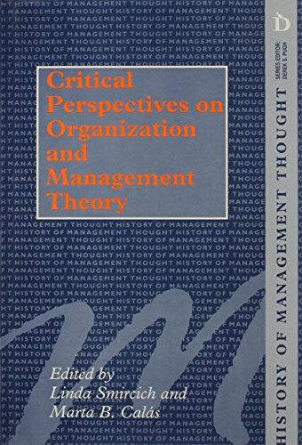 9781855217072: Critical Perspectives on Organization and Management (History of Management Thought)