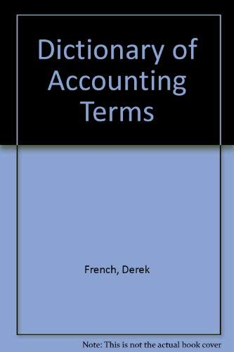 9781855240452: Dictionary of Accounting Terms