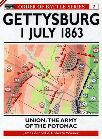 9781855328334: Gettysburg July 1 1863: Union: The Army of the Potomac (Order of Battle)