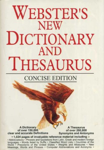 9781855340398: Websters New Dictionary and Thesaurus Consise Edition