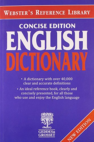 9781855349612: Websters Concise English Dictionary
