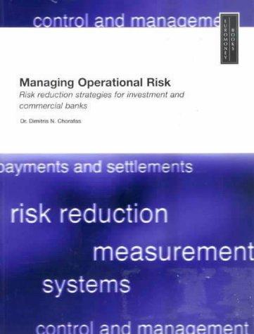 9781855648913: Managing Operational Risk (Euromoney books)