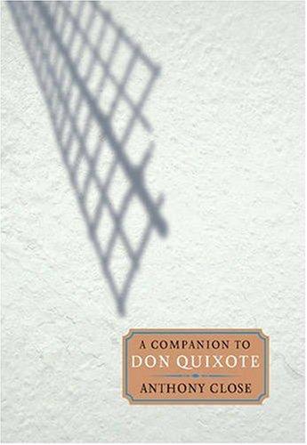 9781855661707: A Companion to Don Quixote (Monografías A)